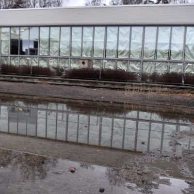 Tapiolan uimahalli Espoossa remontoitavana 4. tammikuuta 2018.
