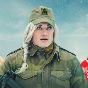 Tre karaktärer från serien Rekryterna