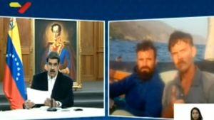Venezuelas president Nicolás Maduro talar i tv