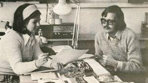 Gia Mellin och Kurt-Erik Wikstedt, Borgåbladet 2.2.1973.