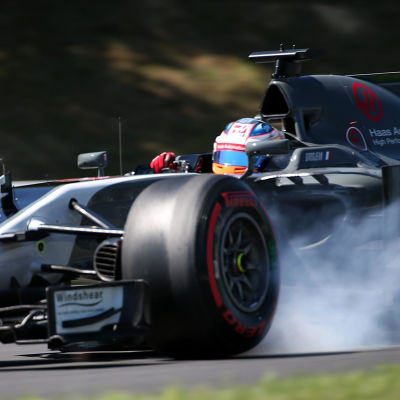 Romain Grosjean i farten.
