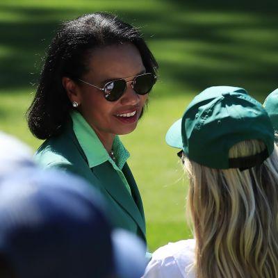 Condoleezza Rice golf-kilpailussa 10 huhtikuuta 2019 Augustassa Georgiassa.