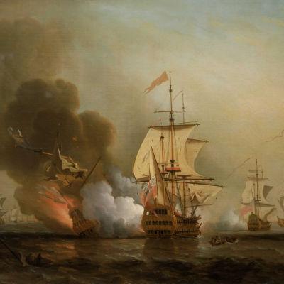 Tavla av segelfartyget San José av Samuel Scott