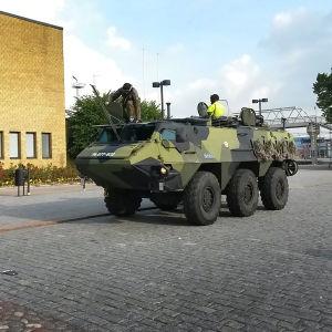 Pasi utanför tågstationen i Åbo.
