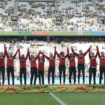 Kanada firar OS-bronset i Rio de Janeiro.
