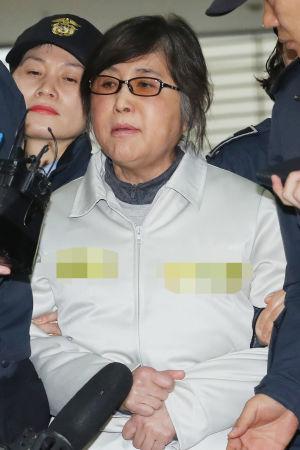 Choi Soon-Sil har häktats i väntan på rättegång.
