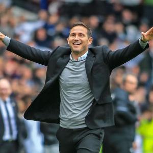 Frank Lampard var nära att ta upp Derby i Premier League.
