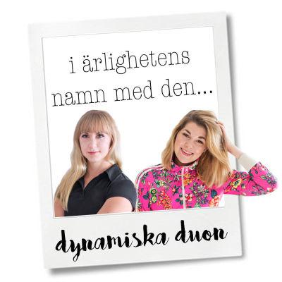 Poddarna Janet Lindroos och Silje Werner från Ekenäs.