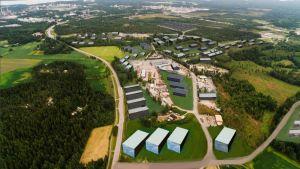 Stadens illustration av det planerade industriområdet i Kullo