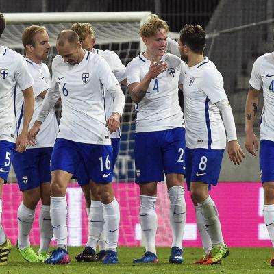 Fredrik Jensen har gjort sitt första landslagsmål.