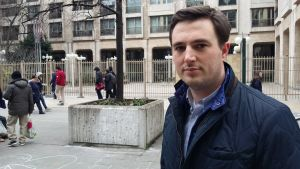 En man i Bryssel
