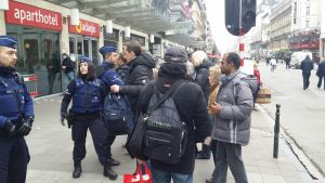 Säkerhetskontroll i Bryssel