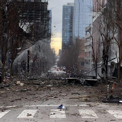 Räjähdys aiheutti laajaa tuhoa Nashvillen keskustassa.