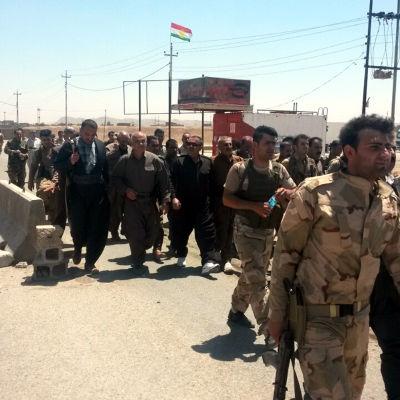 Kuriska soldater norr om Bagdad.