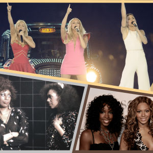 1: Spice Girls, 2: The Pointer Sisters, 3: Destiny's Child.