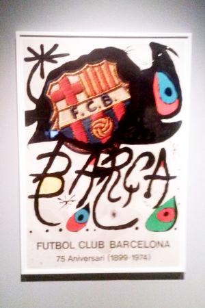 Affisch för FC Barcelona av Joan Miró