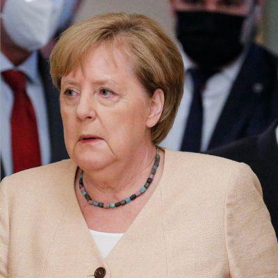 Angela Merkel och Volodymyr Zelenskyj