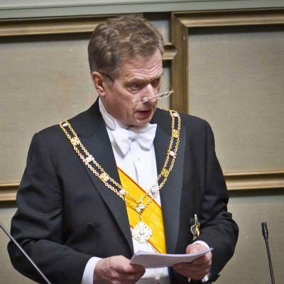 Sauli Niinistön virkaanastujaiset Helsingissä 1. maaliskuuta 2012.