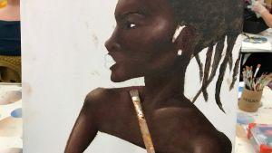 Målning på en kvinna