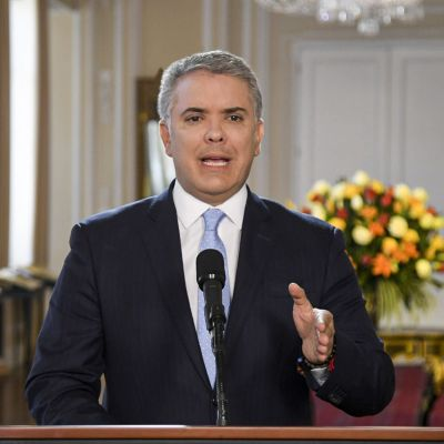 Colombias president Ivan Duque.