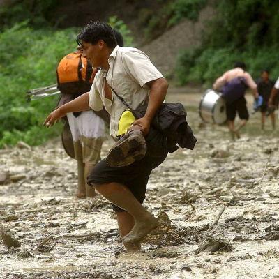 Väderfenomenet El Niño orsakade kraftiga översvämningar i Bolivia 2007.