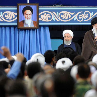 Ali Khamenei och Hasan Rouhan