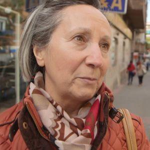 Angela Herrero, en dam i medelåldern i Madrid.