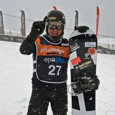 Matti Suur-Hamari vann VM-guld i Spanien.