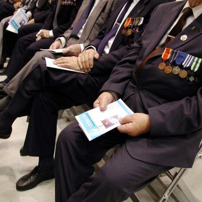 Krigsveteraner möts till fest