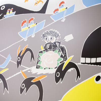Uudessa lastensairaalassa on paljon muumi-aiheisia seinämaalauksia.