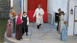 Gårdagens genrep av De tre musketörerna. Fotograf Tobias Klemets.