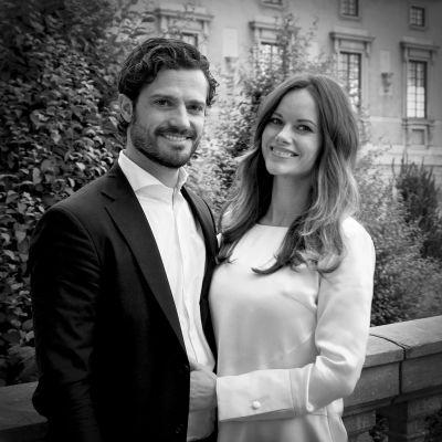 Bild på prins Carls Philip och prinsessan Sofia.