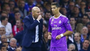 Zinédine Zidane, Cristiano Ronaldo.