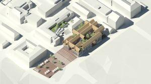Uusi kaupunki-kollektiviets vision för Krämaretorget och Nimbuskvarteret.
