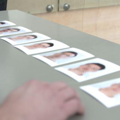 Bilder på personer med utsuddade ansikten