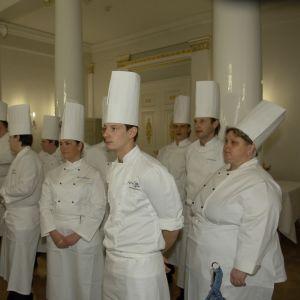 Kockar och kökspersonal i slottet 2005.
