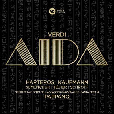 Antonio Pappanon johtaman Aida-levytyksen kansikuva.