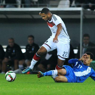 Serge Gnabry glänste i bägge matcherna mellan Tyskland och Finland i U21-kvalet.
