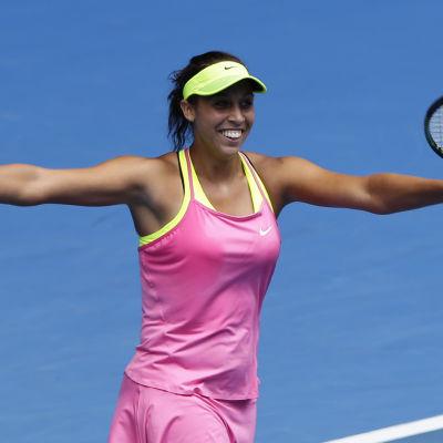 Madison Keys klar för sin första semifinal i en Grand Slam-turnering.