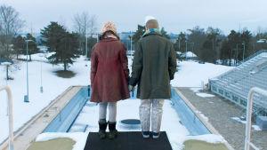 Felix  och Fakira från kortfilmen Dans på tunn is.