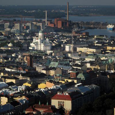 Ilmakuva Helsingin kantakaupungista.
