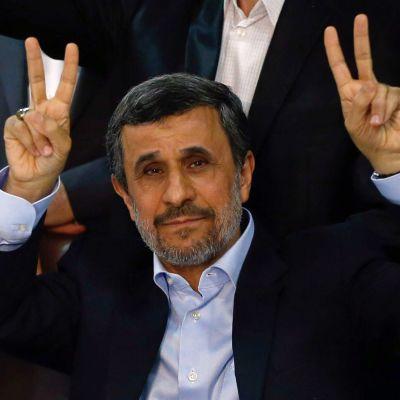Mahmoud Ahmadinejad i Teheran den 12 april 2017.