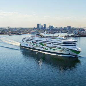 Modellbild av Tallink Siljas nya fartyg MyStar.