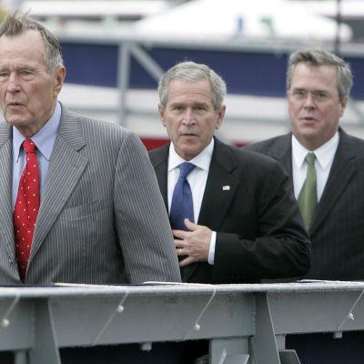 George Bush, George W. Bush och Jeb Bush