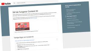 Youtube och deras tjänst Content ID.