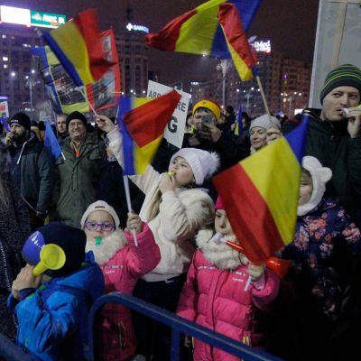 Mielenosoitus lauantaina Bukarestin keskustassa