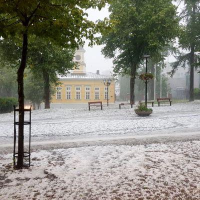 Lappeenrannassa satoi rakeita