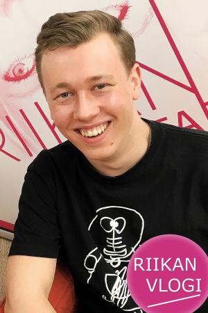 Toimittaja Riikka Holopainen ja sellisti Jonathan Roozeman.