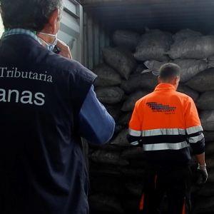 kokain lastat på en lastbil.
