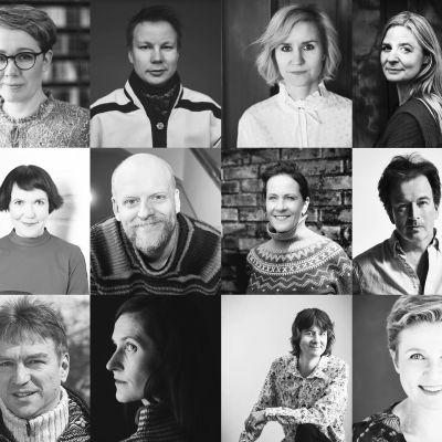 Helsinki Lit -festivaalin vuoden 2020 keskustelijat kollaasikuvassa